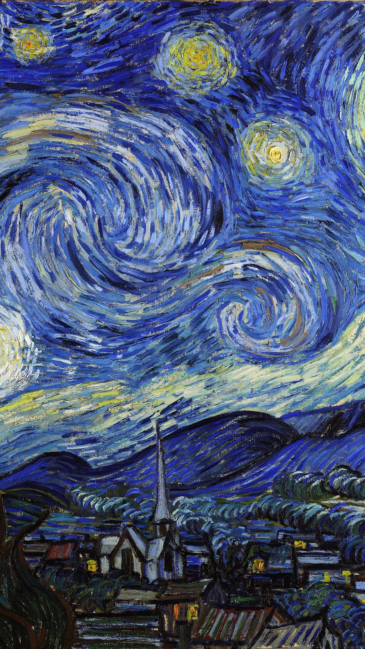 1242x2208 iPhone6papers - aj42-vincent-van-gogh-starry-night-classic-painting ...