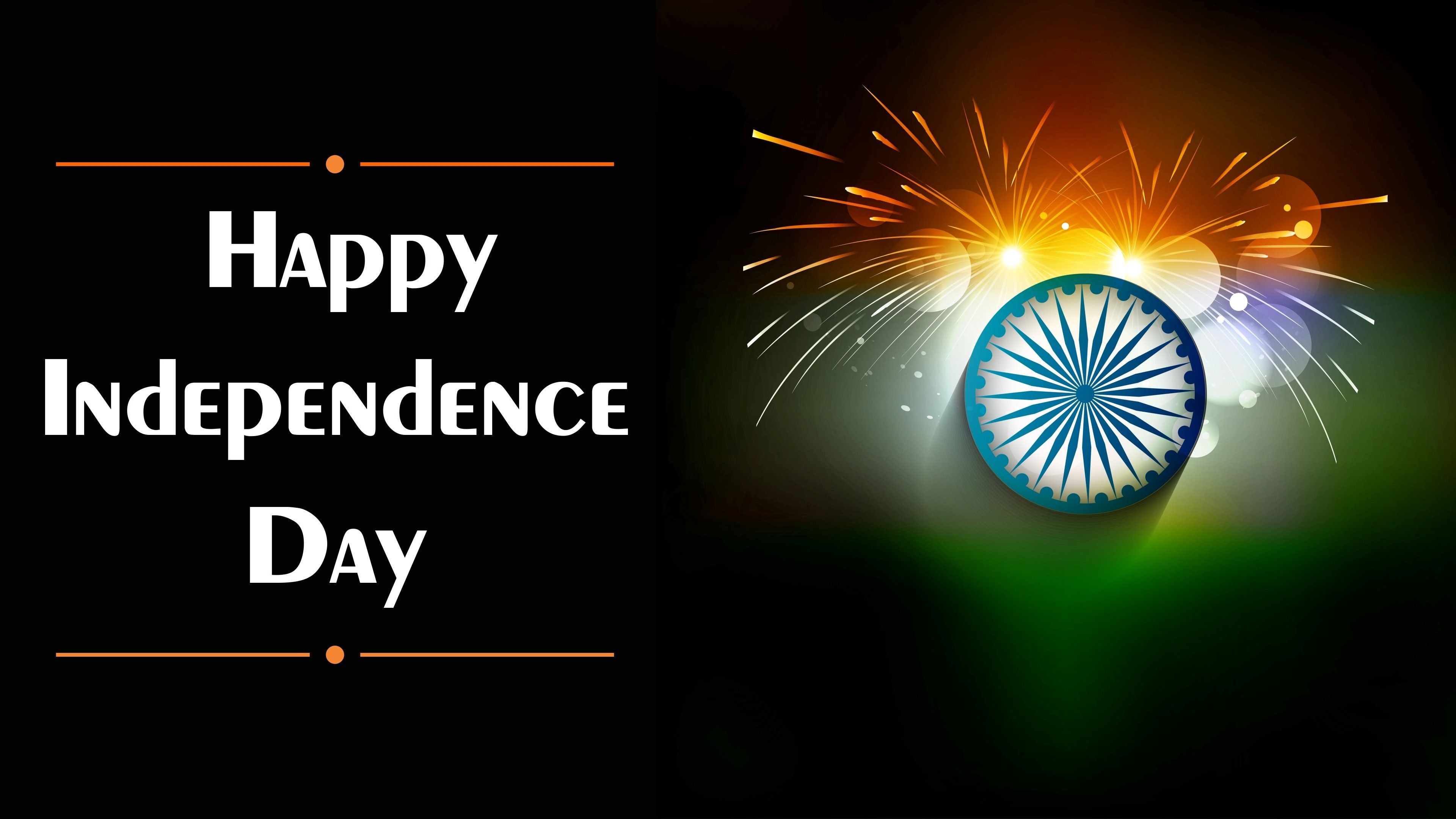 3840x2160 Happy Independence Day of India HD Desktop Wallpaper Background | HD ...