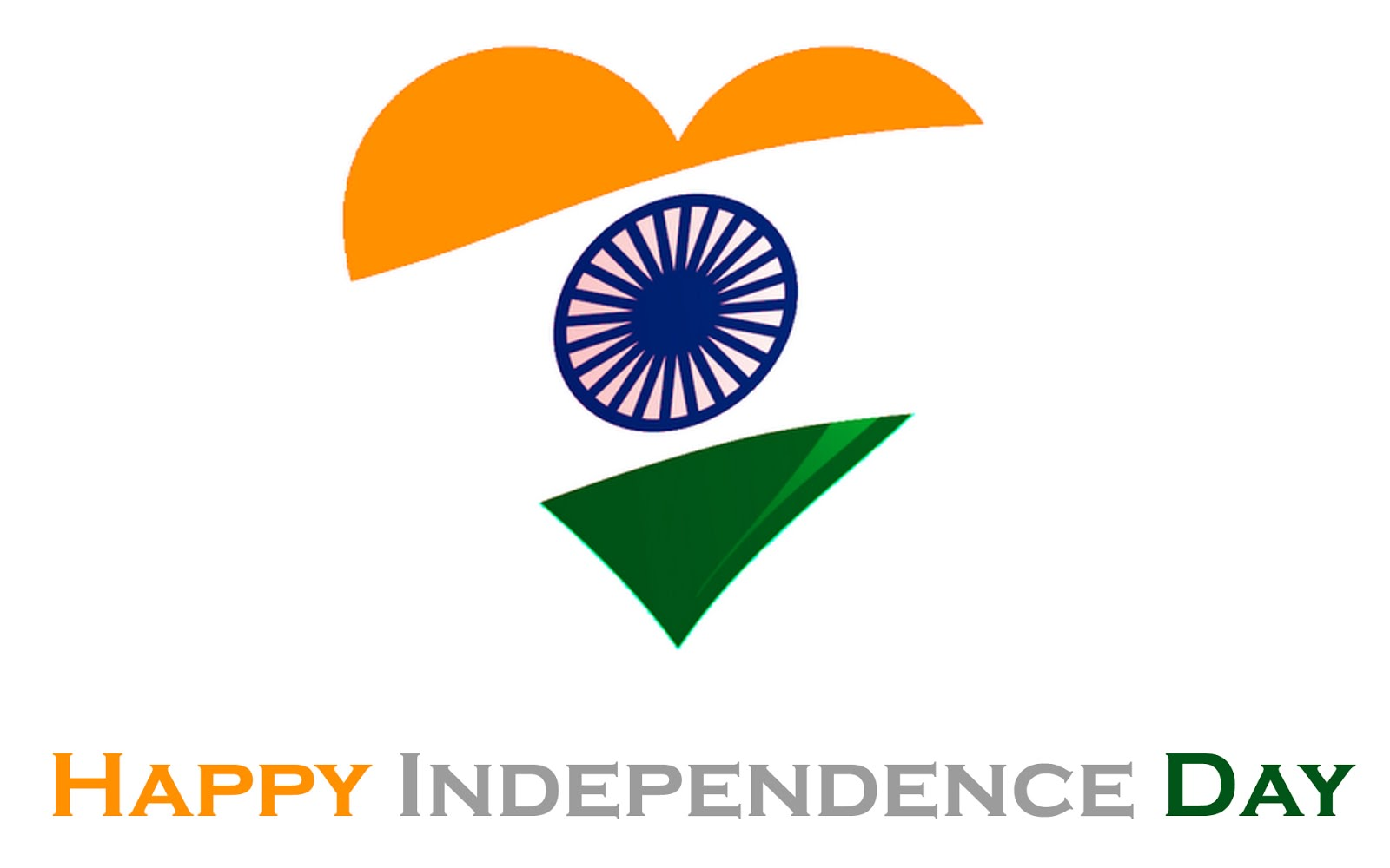 1600x1000 Happy Independence Day Heart Shape Indian Flag Wallpaper - Golfian.com