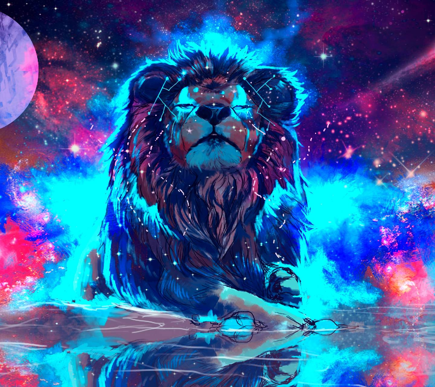 1440x1280 Tiger Galaxy Wallpaper by 18717 - c3 - Free on ZEDGE™