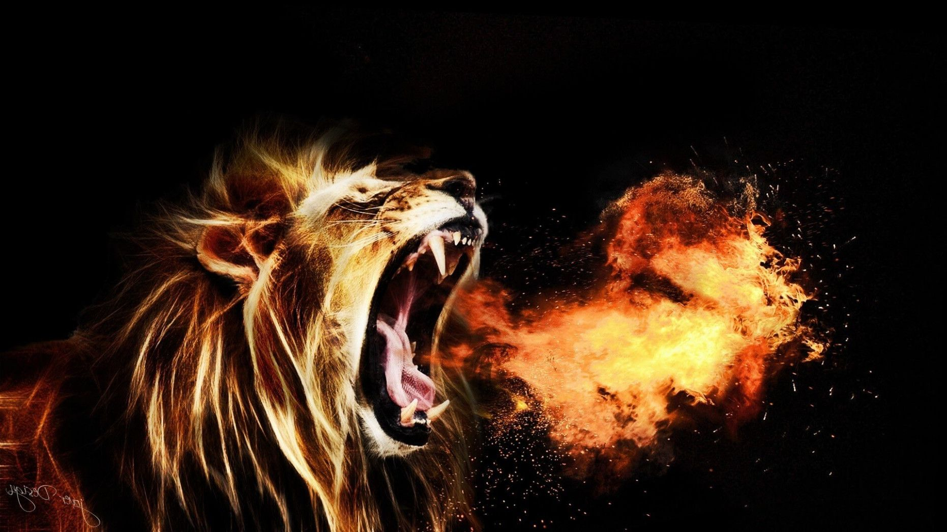 1862x1047 Fire Lion Wallpapers -① – amazing lion wallpapers hd | Amazing ...