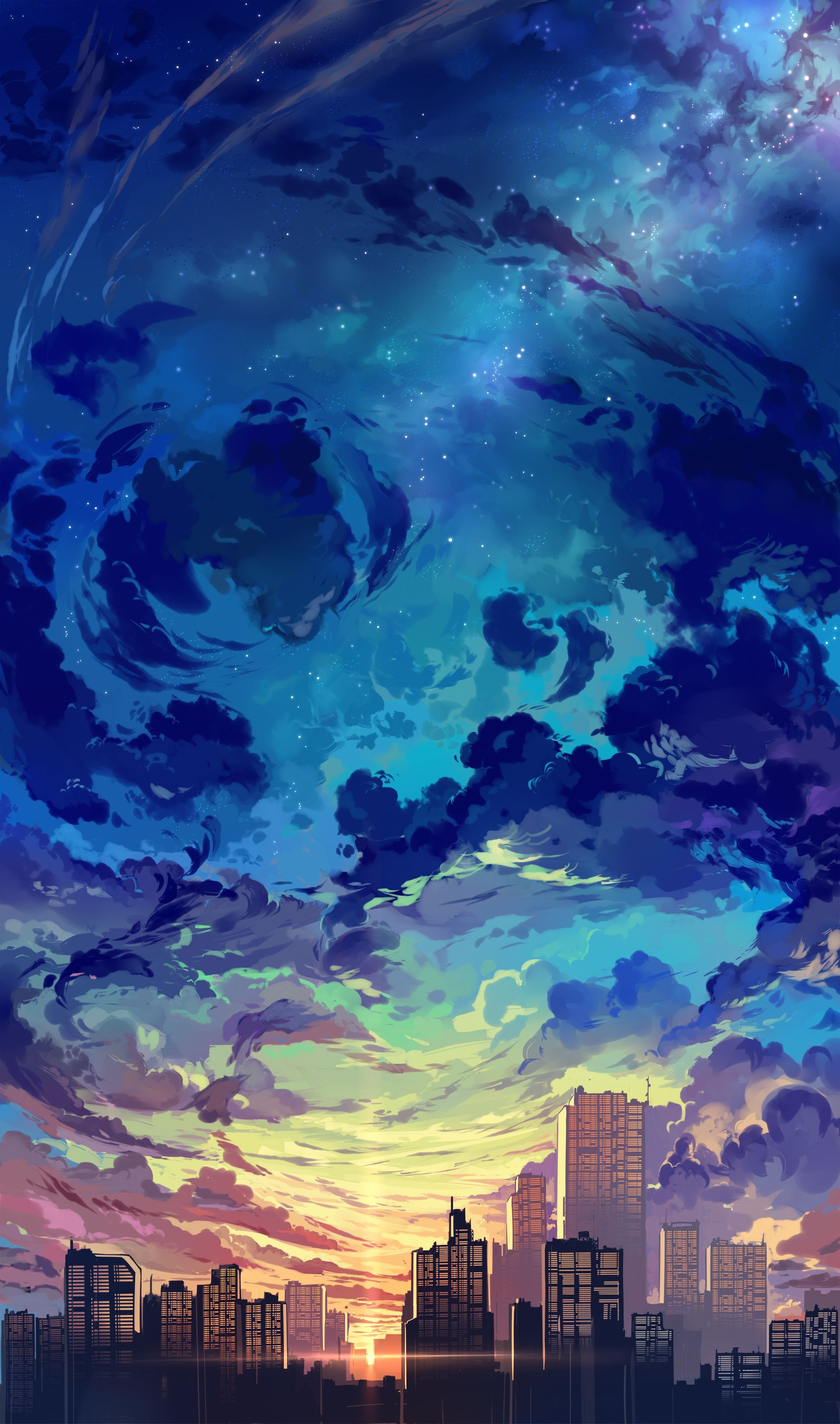 1771x3000 Evening Sky by Beth Young. : ImaginaryCityscapes