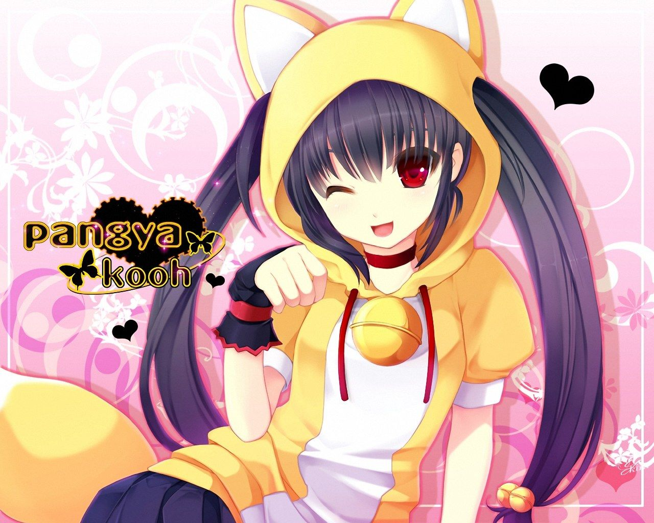 1280x1024 anime super fan images neko girl HD wallpaper and background photos ...