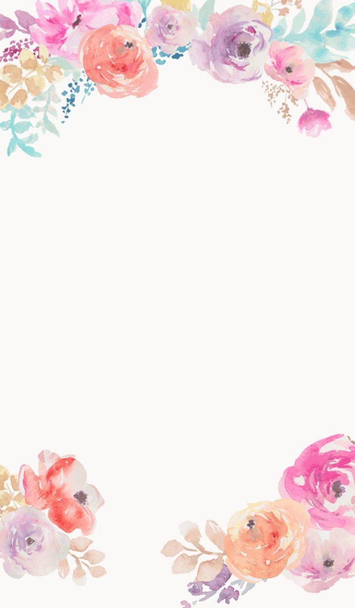 716x1225 Watercolor Pink Floral #4069 - iPhone Wallpaper