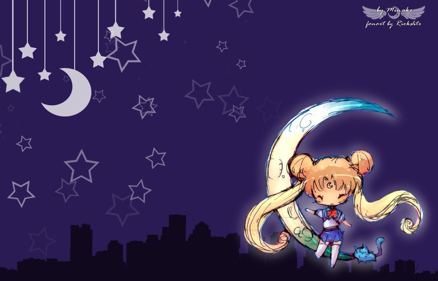 1400x900 Sailor Moon Chibi Desktop HD Wallpaper | AWWWWW!!!!! | Pinterest ...