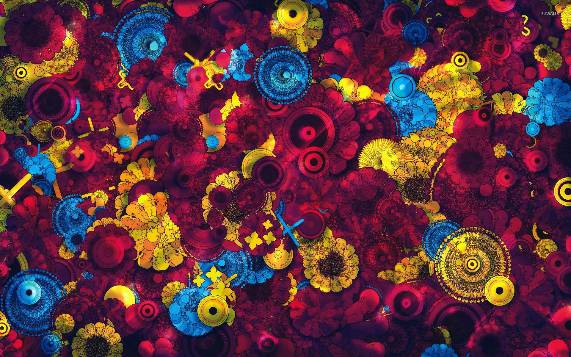 1920x1200 Abstract 4k background HD image spirograph circles and flowers 14658 ...