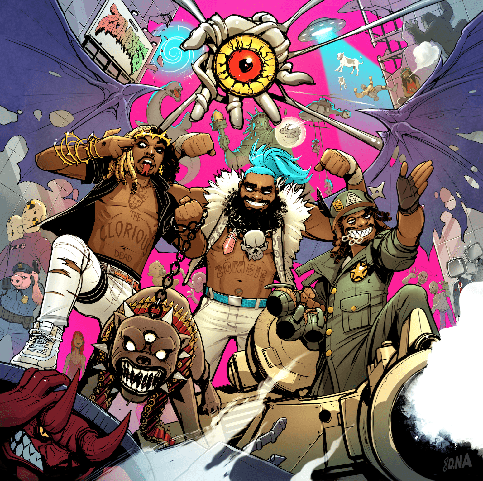 1550x1544 Flatbush Zombies Wallpaper - Unique FHDQ Backgrounds 2018