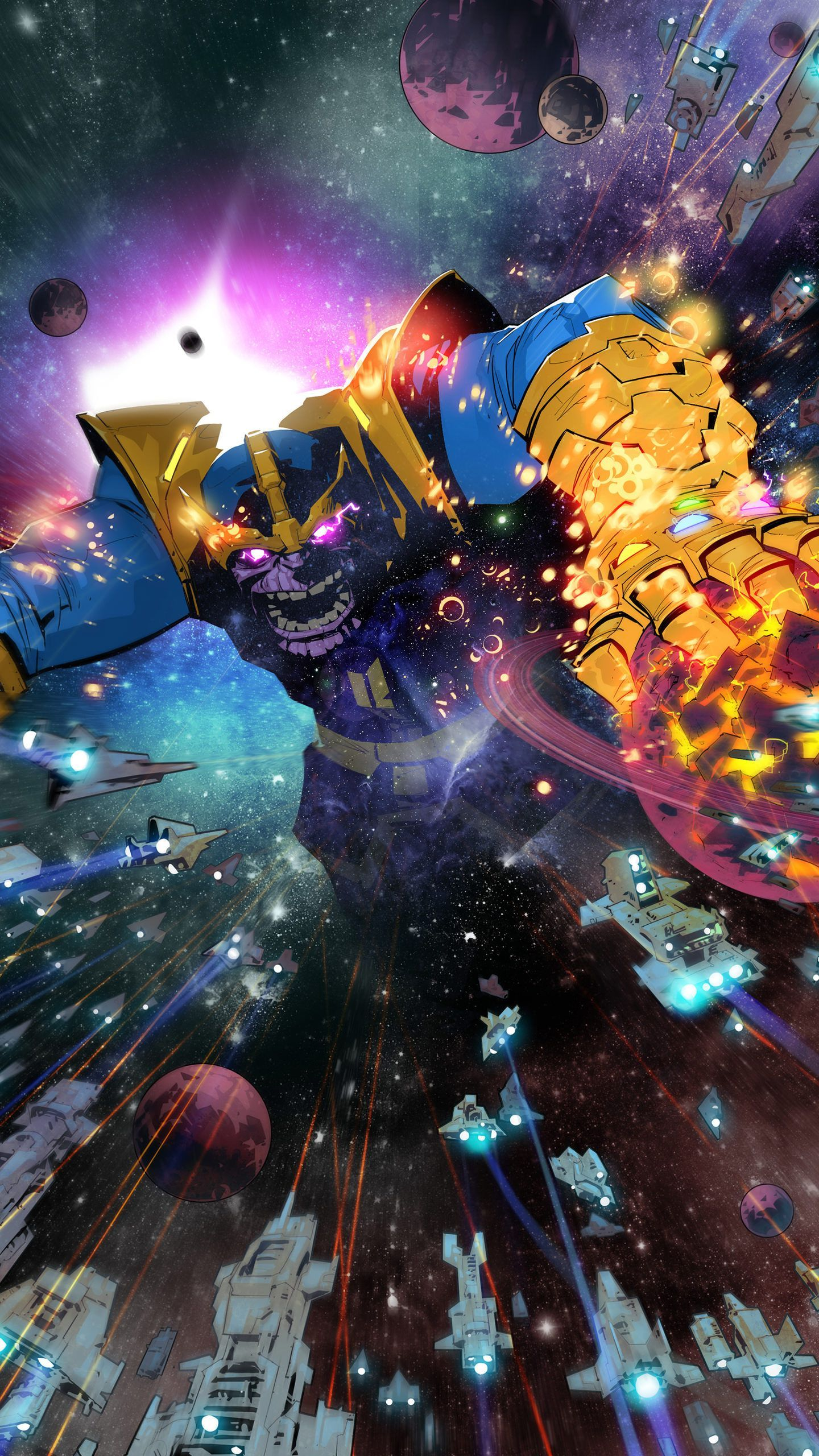 1440x2560 Thanos Comic Book Art Wallpaper for Desktop and iPhone, Android ...