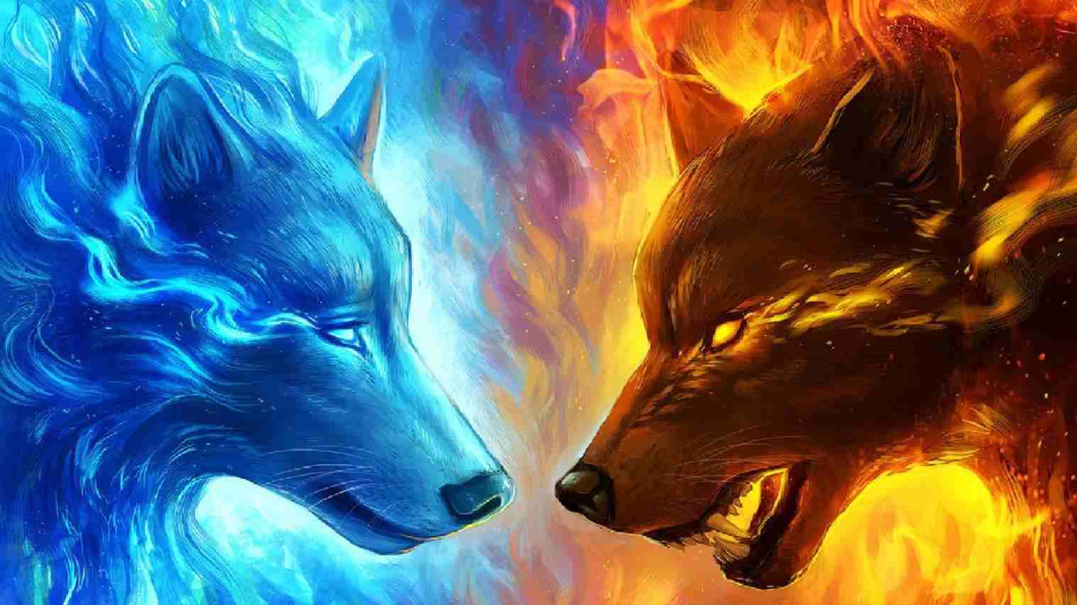 1517x853 Cool Fire Wolf Wallpapers | Majadi Wall
