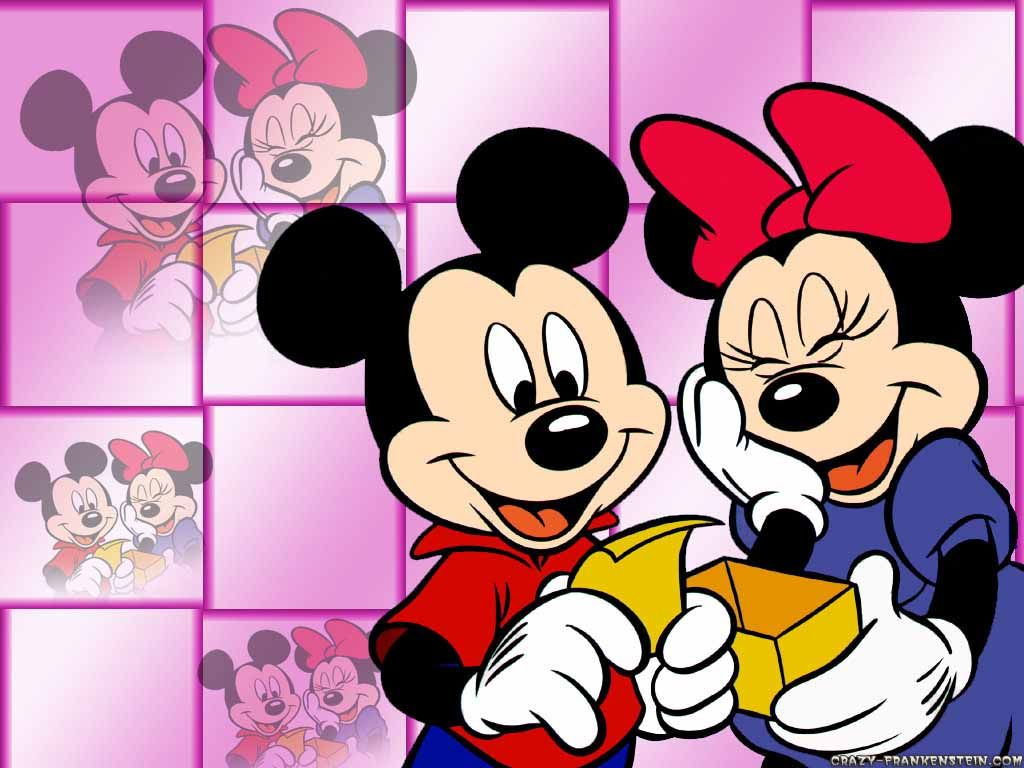 1024x768 Free Mickey Mouse And Minnie Mouse Love, Download Free Clip Art ...