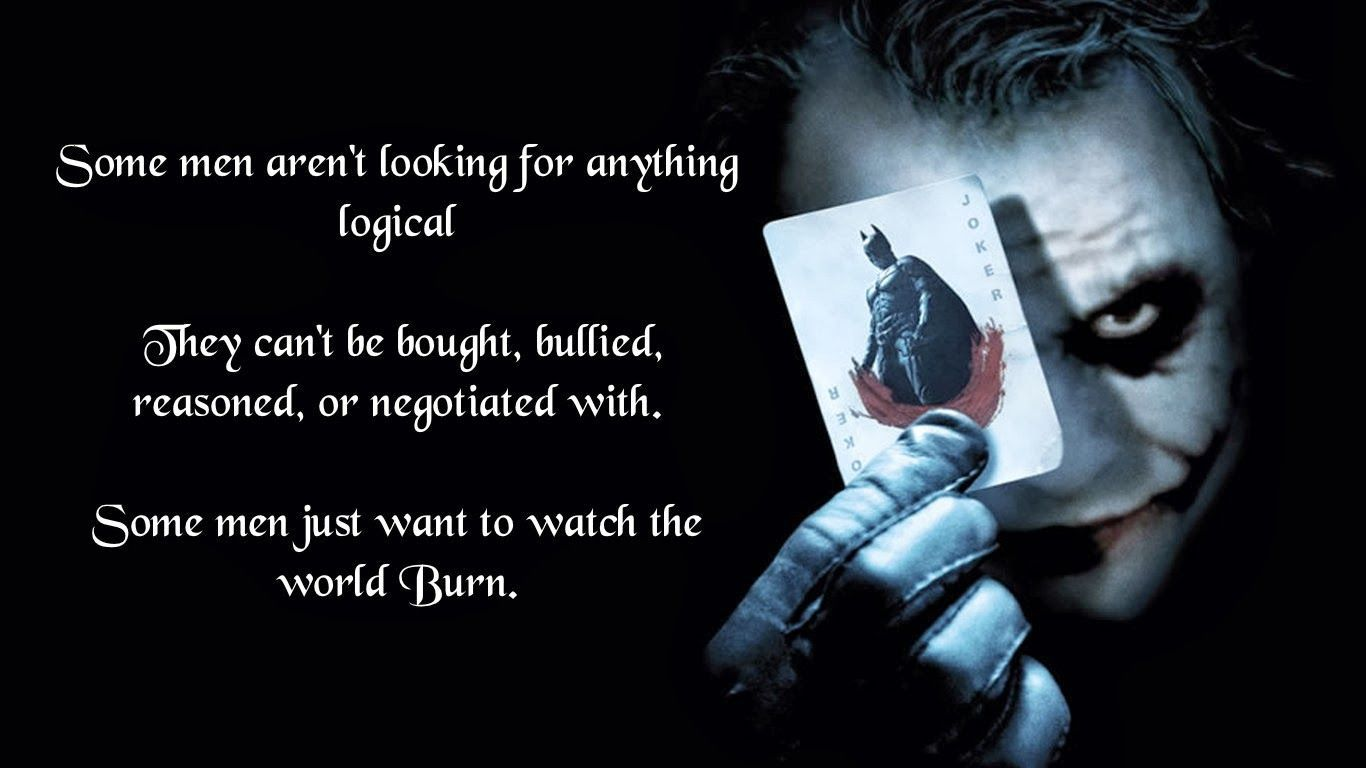 1366x768 Pin by Stewart Tyler on Just sayin'......   Quotes, Joker quotes, Joker