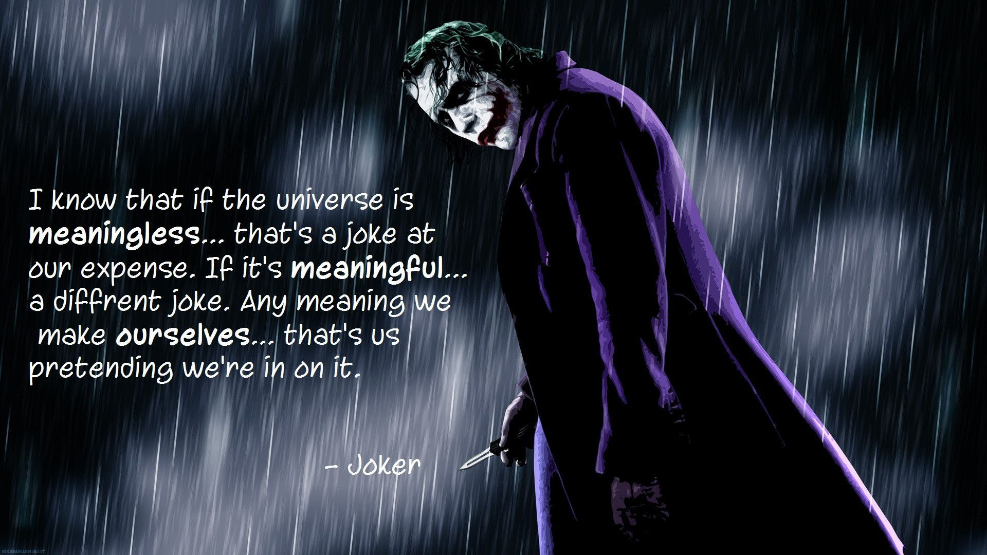 1920x1080 Pin by David on Mental illness   Joker quotes, Quotes, Me quotes