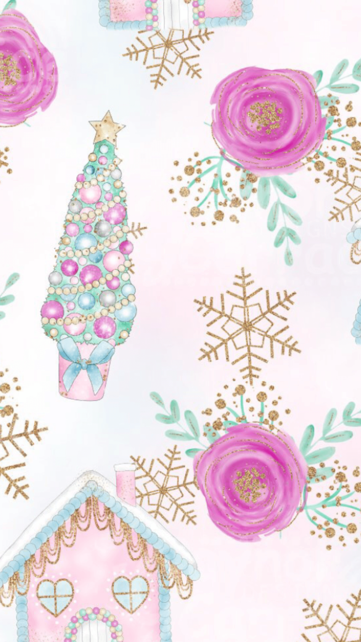 1242x2208 25 Free Christmas Wallpapers for iPhone - Cute and Vintage ...