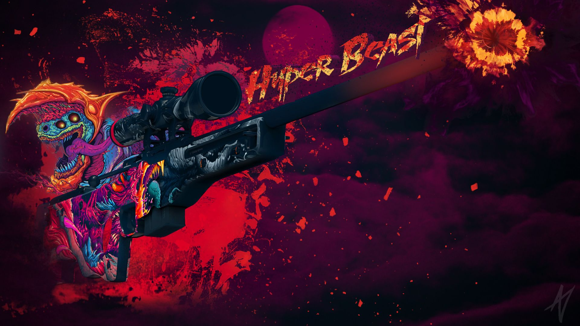 1920x1080 AWP Hyper Beast | CS:GO Wallpapers and Backgrounds