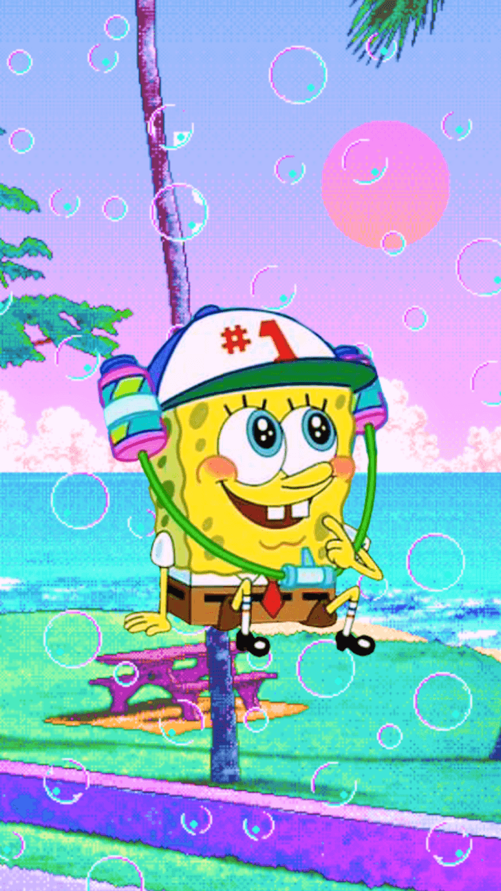 728x1294 Spongebob Aesthetic Phone Wallpapers 3 | Bob sponja, Bob ...