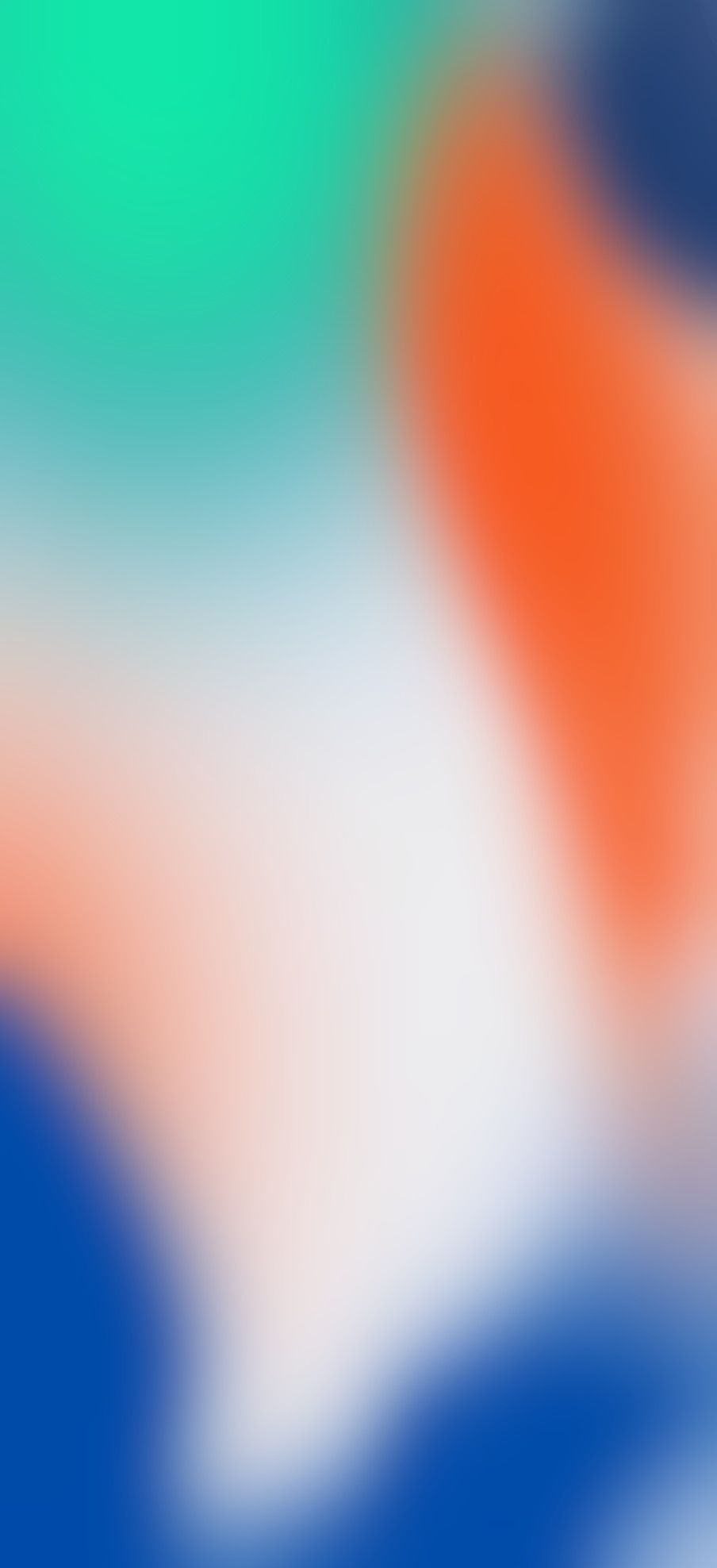 904x1976 iOS 11, iPhone X, orange, green, blue, Stock, abstract ...