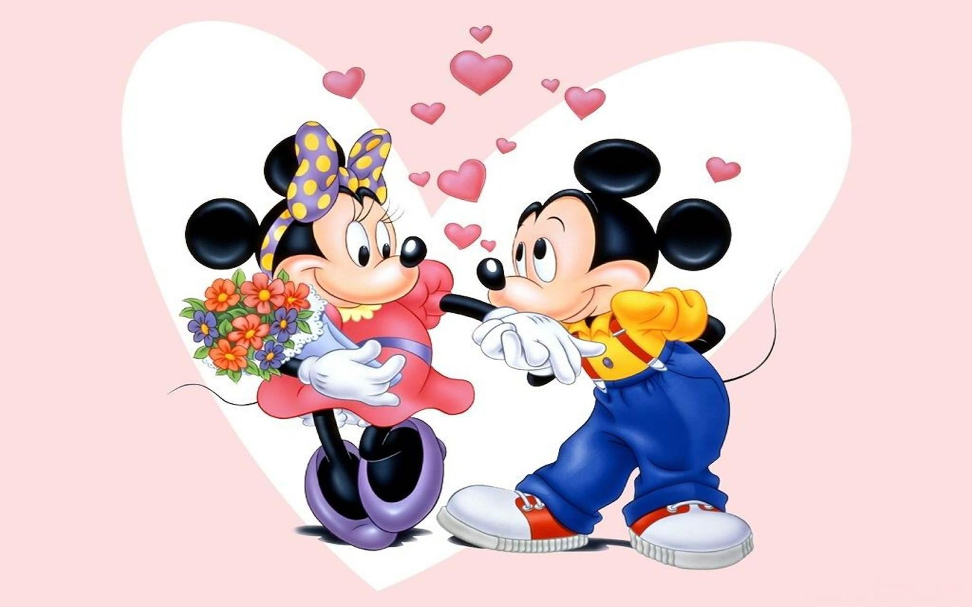 1920x1200 mickey mouse minnie mouse kiss #love | Mickey and Minnie mouse ...