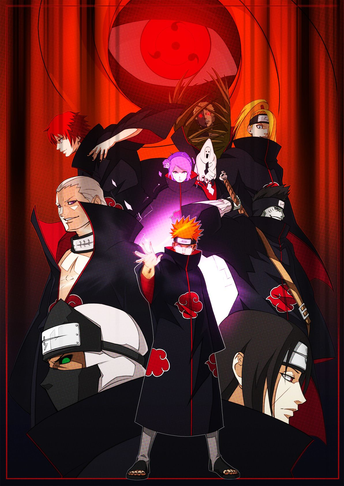 1192x1684 Akatsuki (NARUTO) Mobile Wallpaper #233450 - Zerochan Anime Image Board