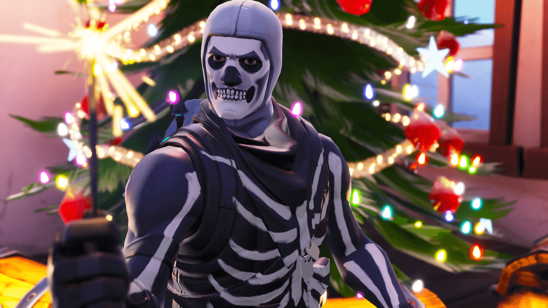 1920x1080 Skull Trooper Wallpaper Season 7 - Fortnite Battle Royale Wallpaper
