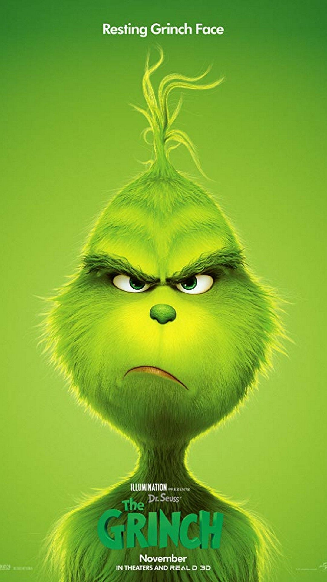 1080x1920 The Grinch Poster HD   2019 Movie Poster Wallpaper HD