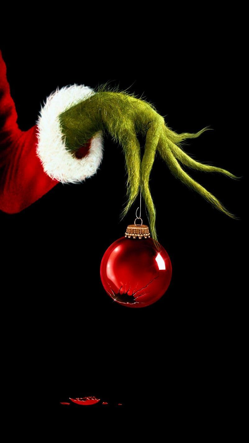 801x1426 How the Grinch Stole Christmas (2000) Phone Wallpaper in 2019 ...
