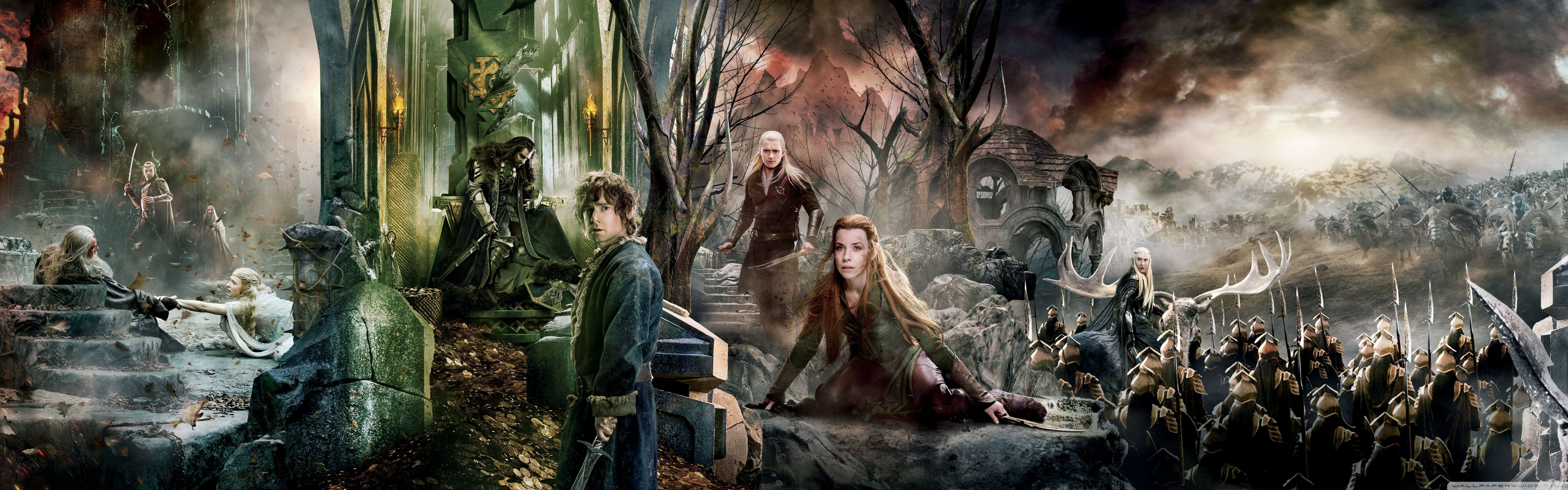 5120x1600 The Hobbit The Battle Of The Five Armies Dual Monitor ❤ 4K HD ...
