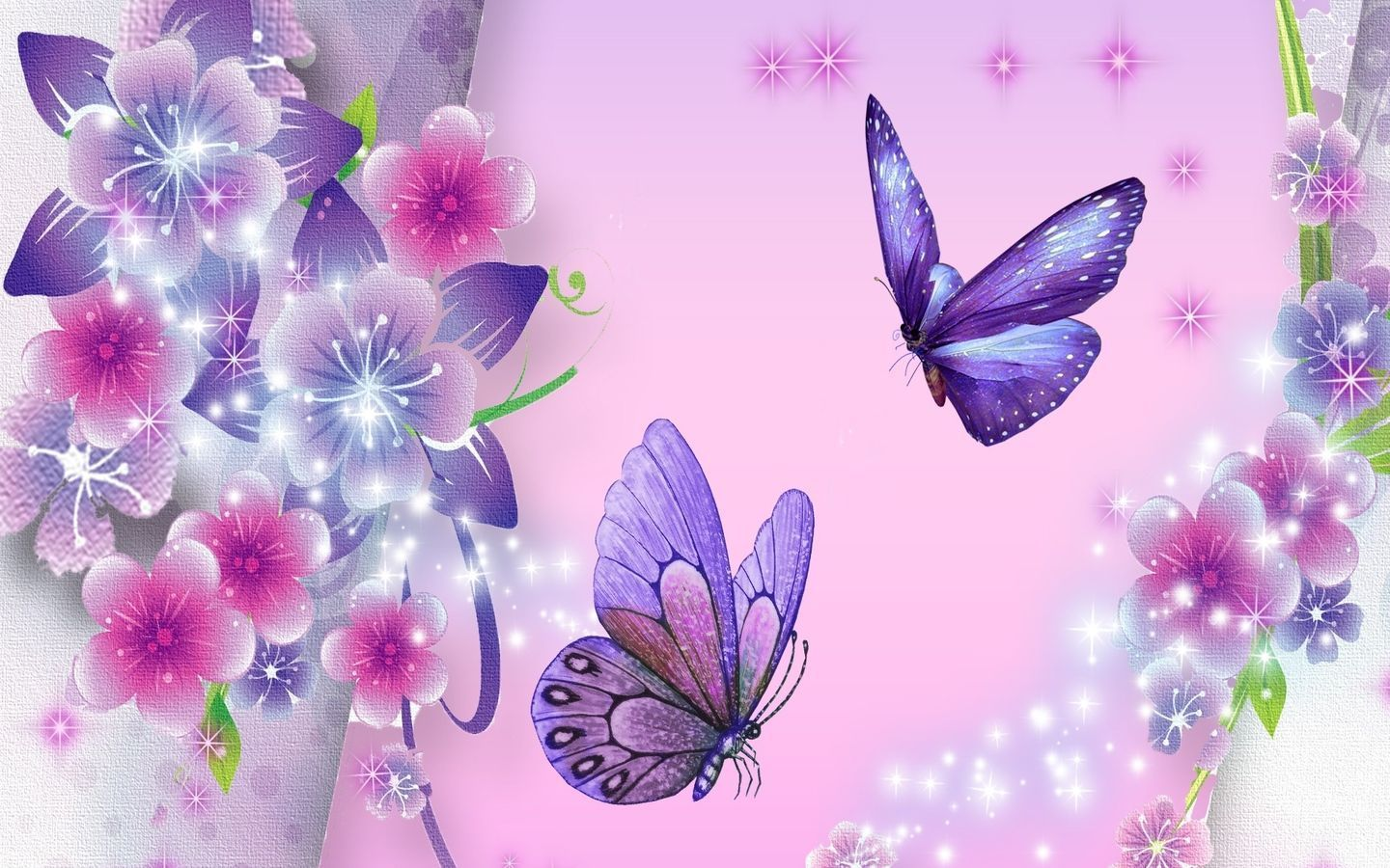 1440x900 Beautiful Purple Butterfly Wallpapers