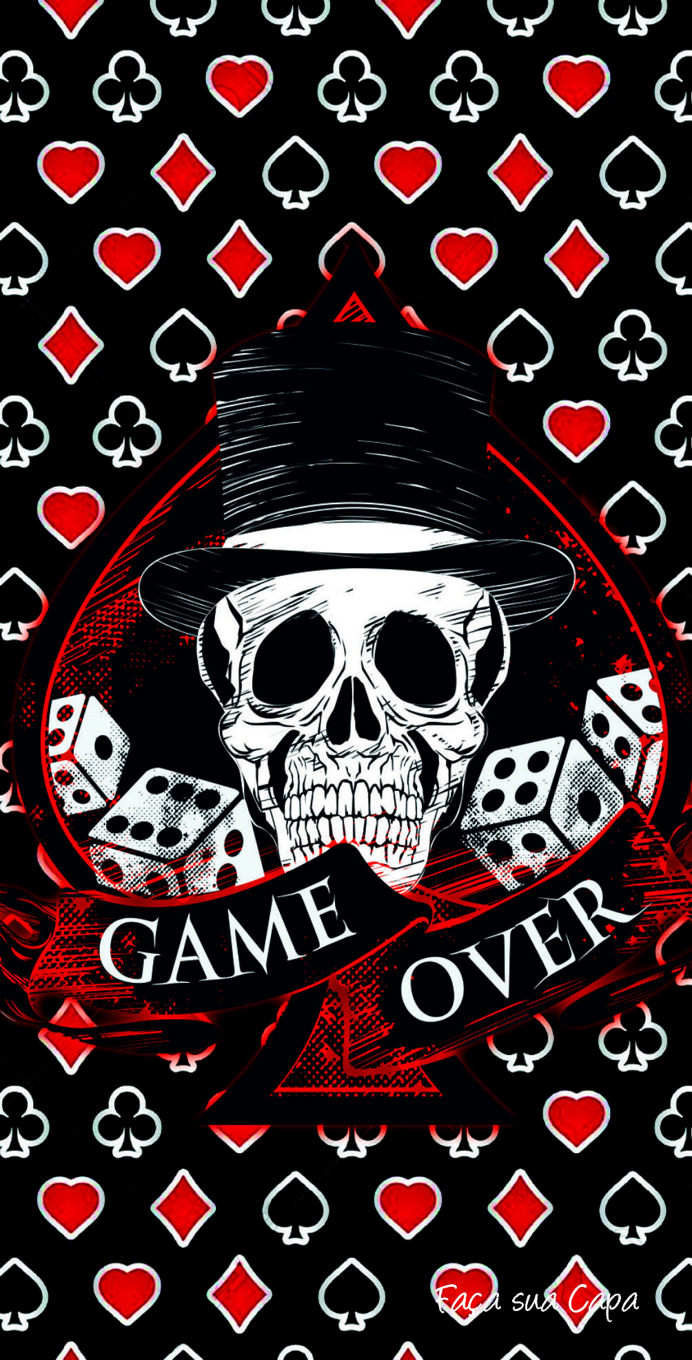 1004x1972 GAME OVER | Cool | Pinterest | Wallpaper, Iphone wallpaper and Skull ...