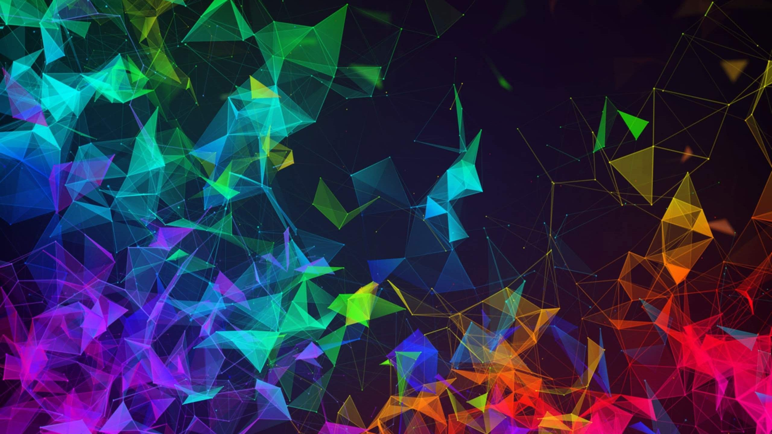 2560x1440 Wallpaper Razer Phone 2, abstract, colorful, HD, OS #20751