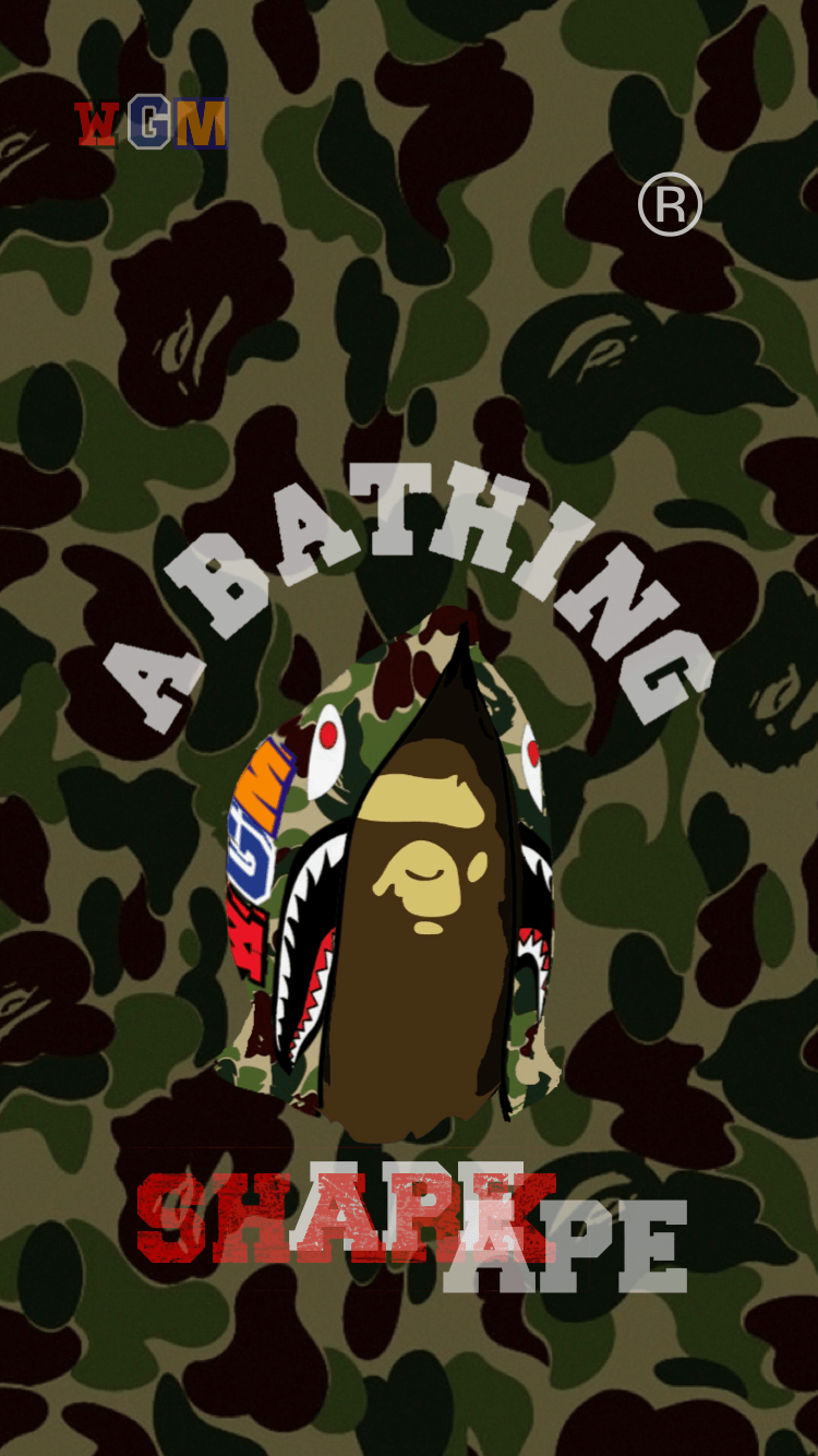 750x1334 BAPE Wallpaper iPhone 壁紙 18/4/29-5/4