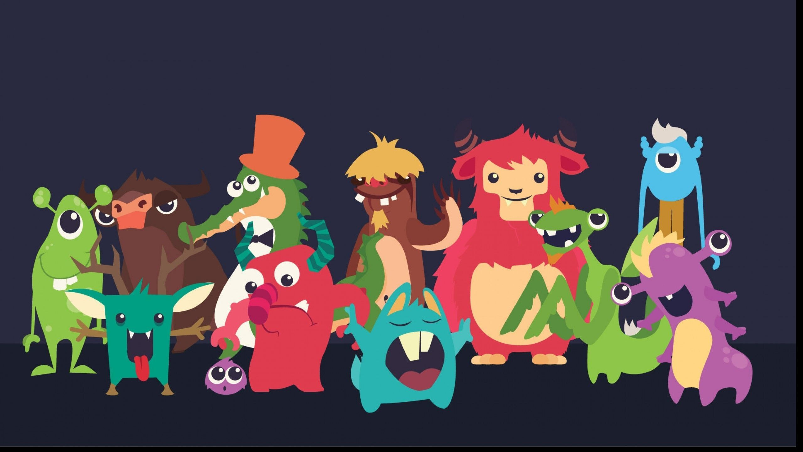 2560x1440 63+ Cute Monster Wallpapers on WallpaperPlay