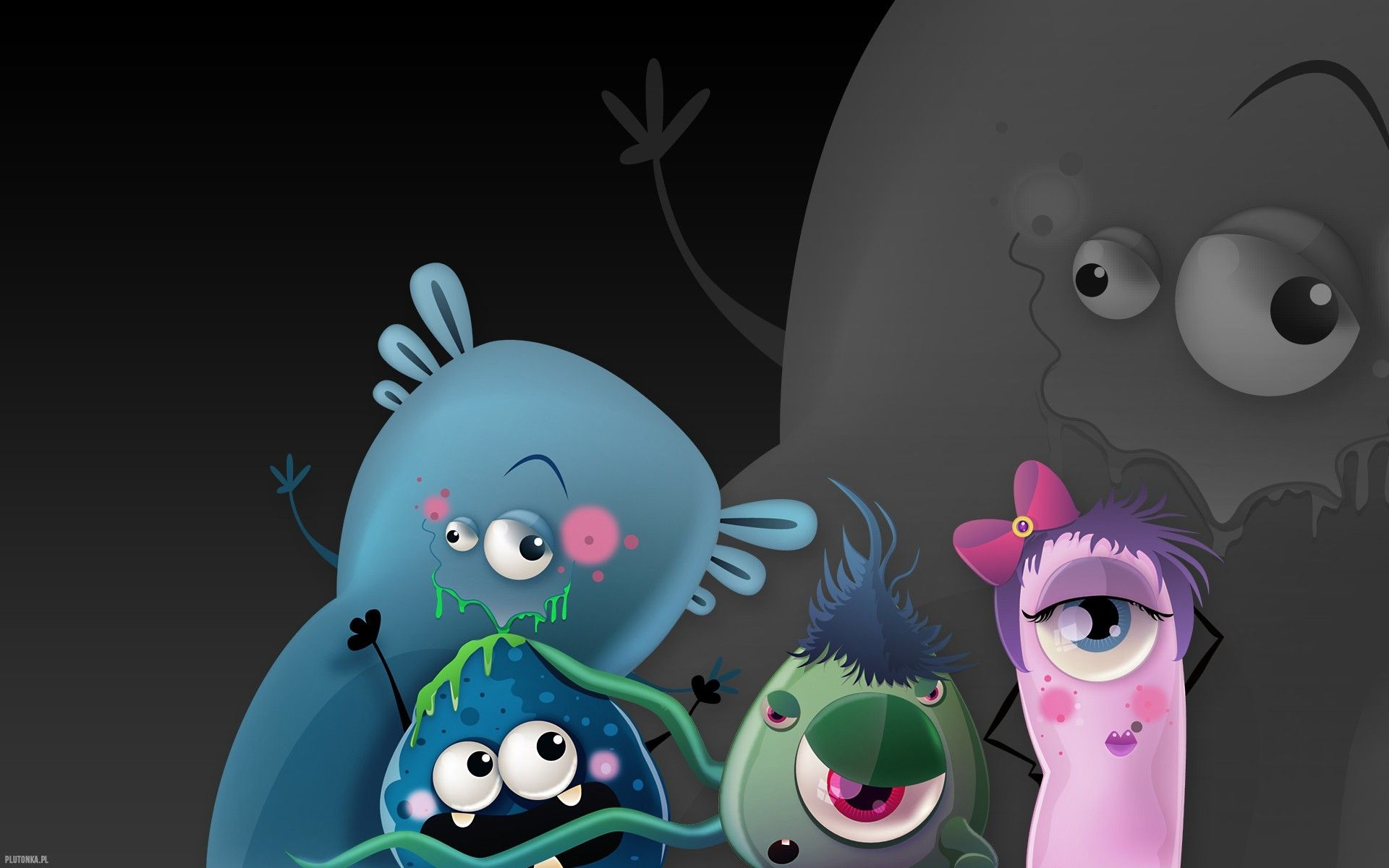 1920x1200 Cute Animated Monster Wallpaper (56+ images)