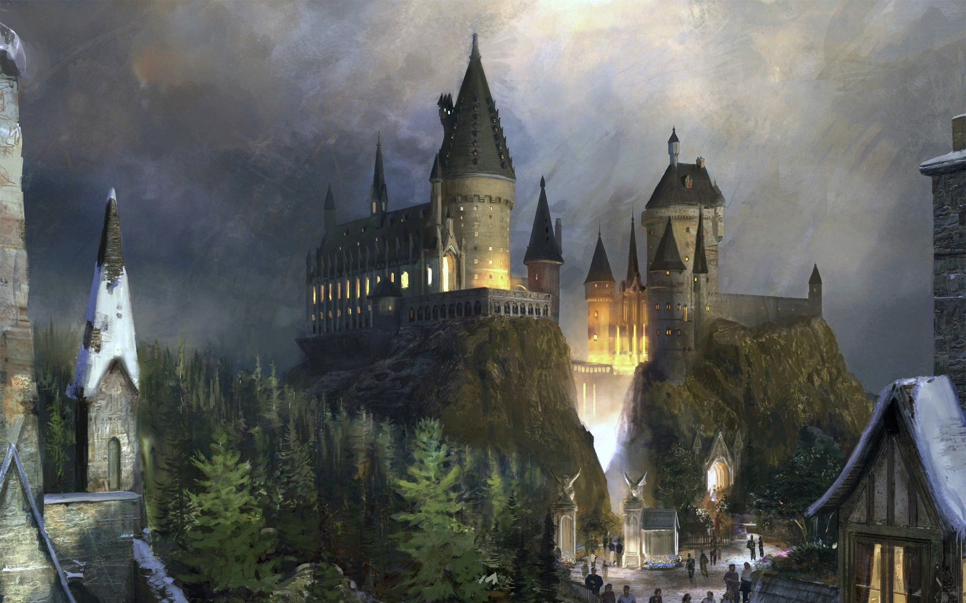 1920x1200 Hogwarts Castle Wallpapers HD | PixelsTalk.Net
