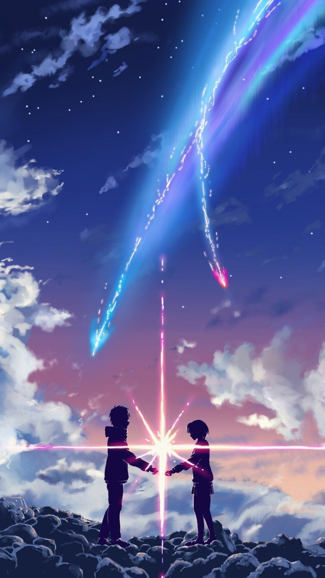 1080x1920 anime aesthetic iphone wallpaper Fresh Your Name Movie Touching ...
