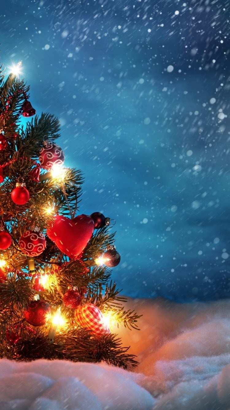 750x1334 Christmas Wallpaper iPhone 7 Inspirational Christmas Tree iPhone 6 ...