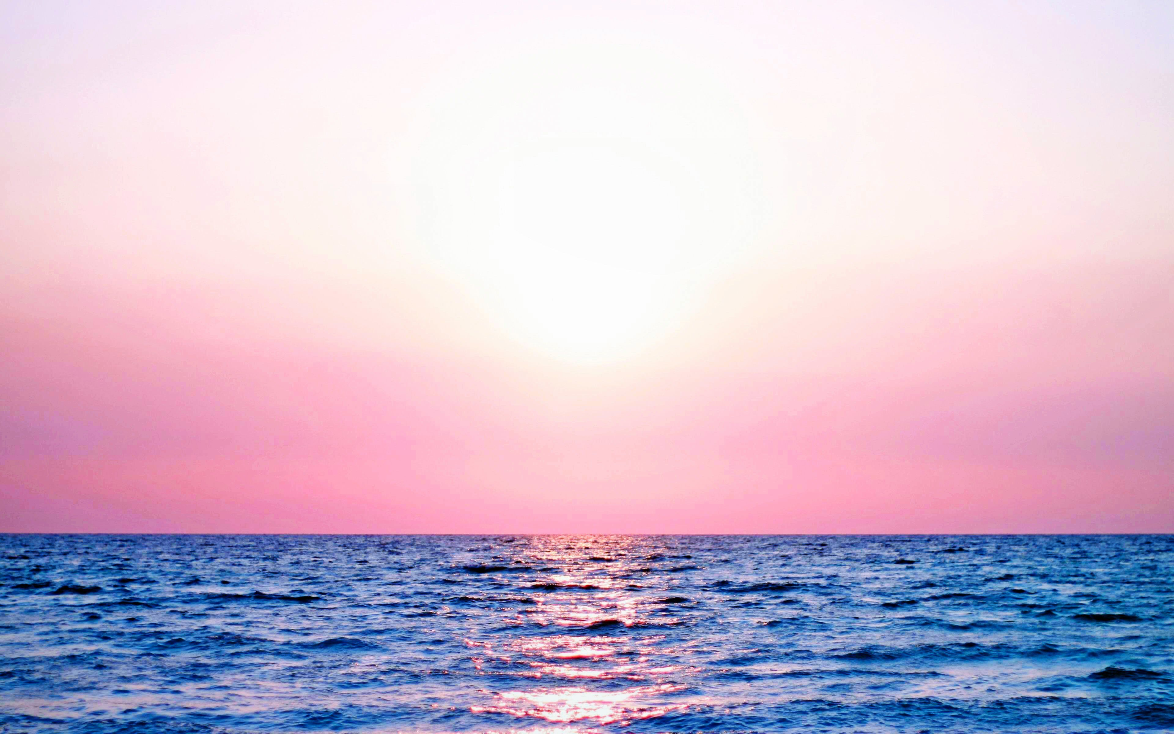 3840x2400 Earth Sunset Water Pastel Blue Ripples Highres Nature Wave ...