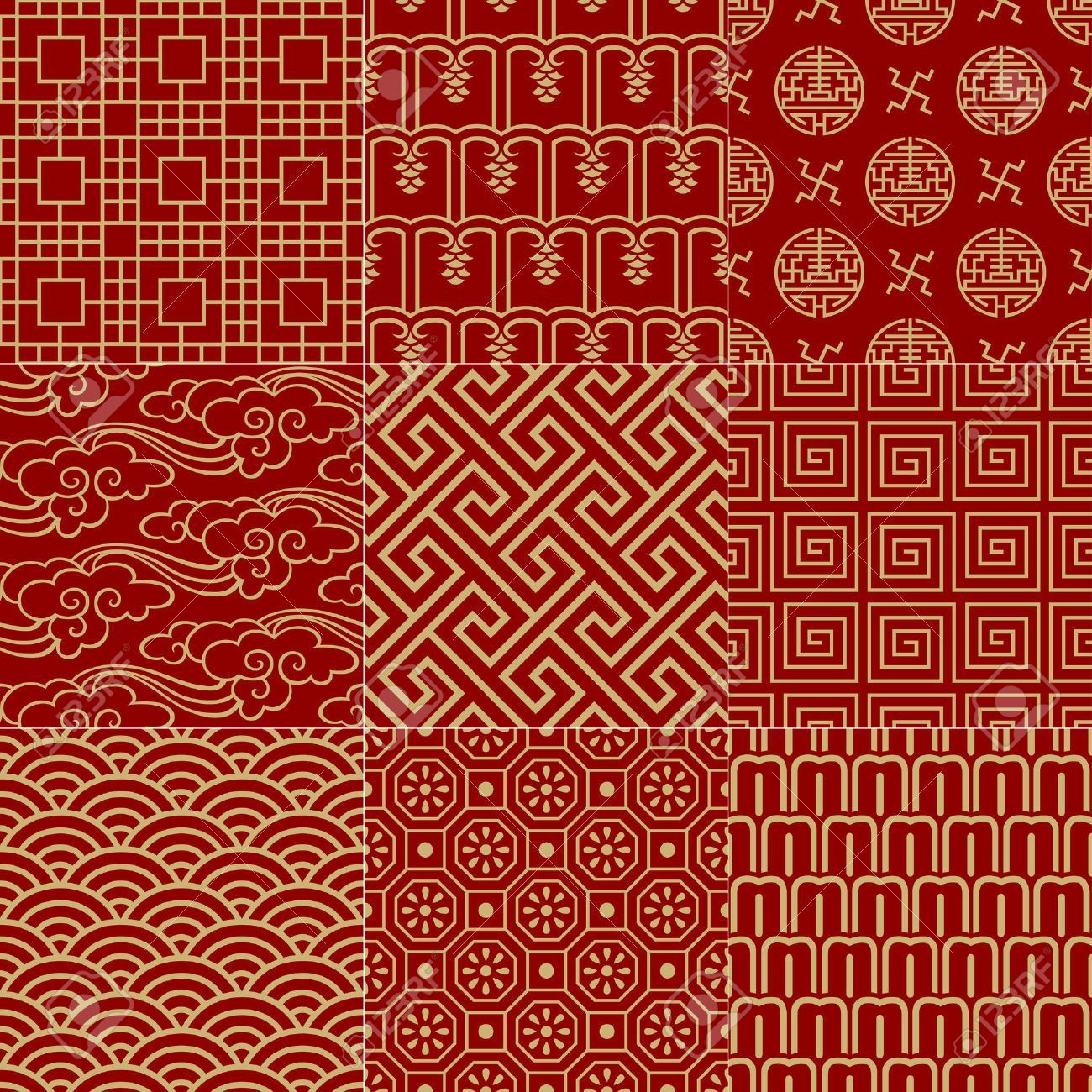 1300x1300 Seamless Traditional Auspicious Chinese Mesh Pattern Royalty Free ...