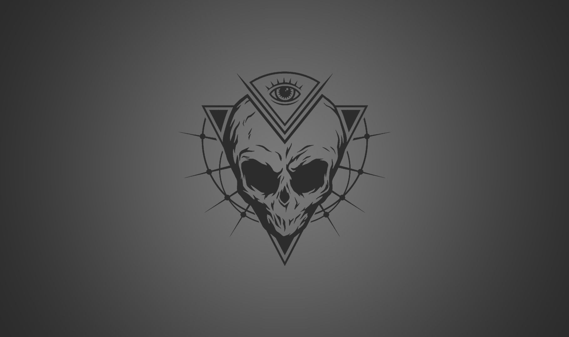 1820x1080 eyes skull triangle simple background the all seeing eye aliens ...