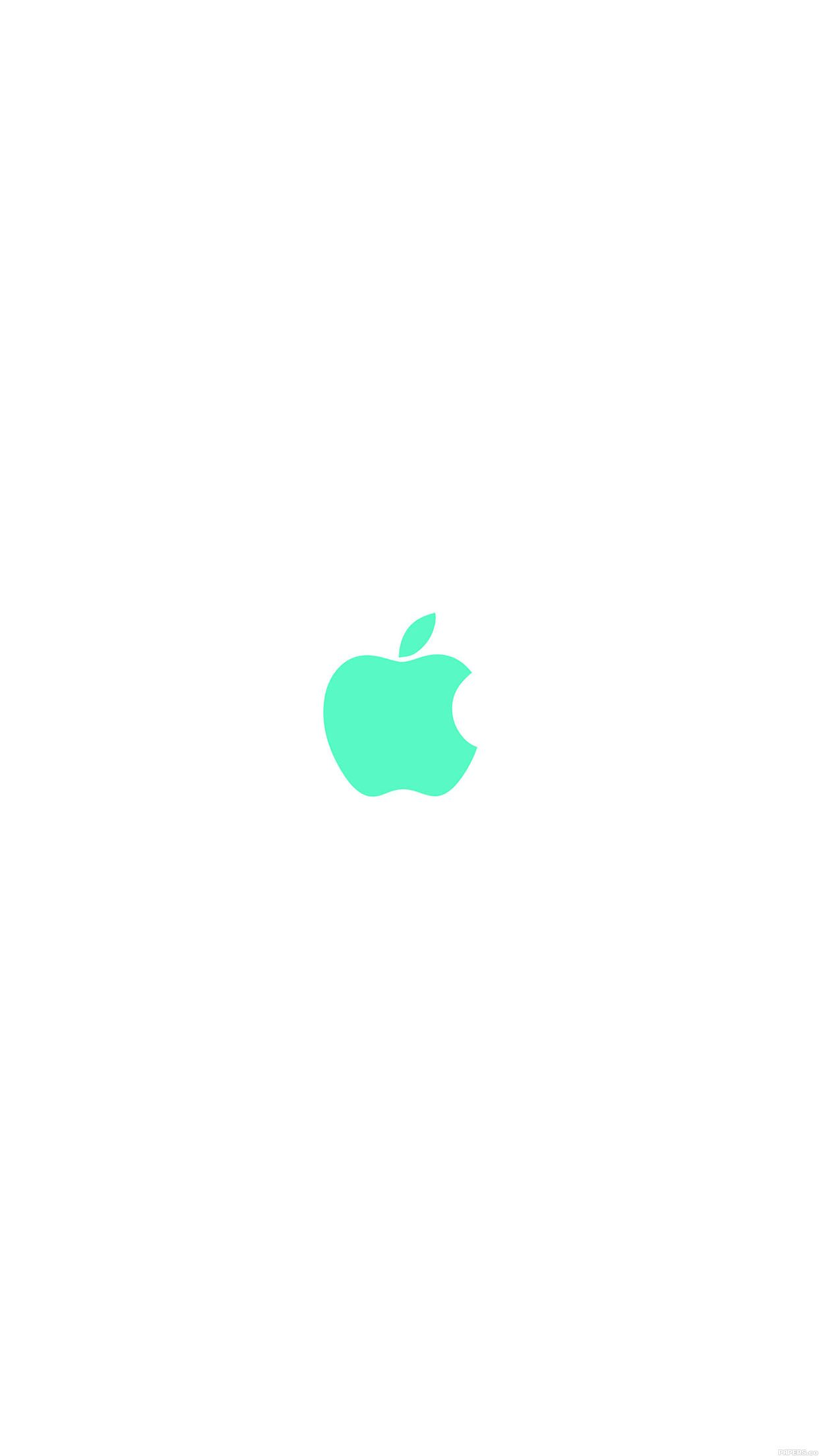 1242x2208 iPhone6papers - va14-apple-simple-logo-color-green-minimal