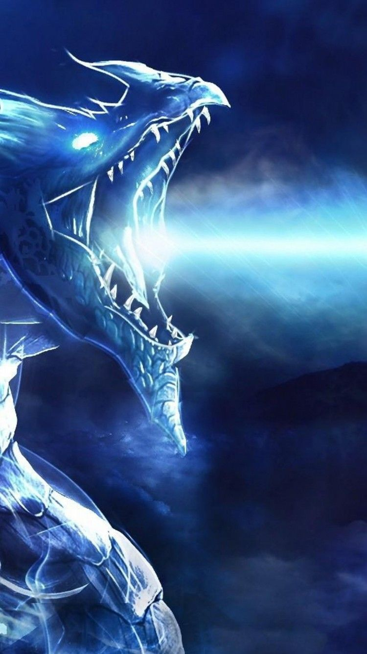 750x1334 Download Wallpaper 750x1334 Blue dragon 3d printer, Blue dragon 4 ...