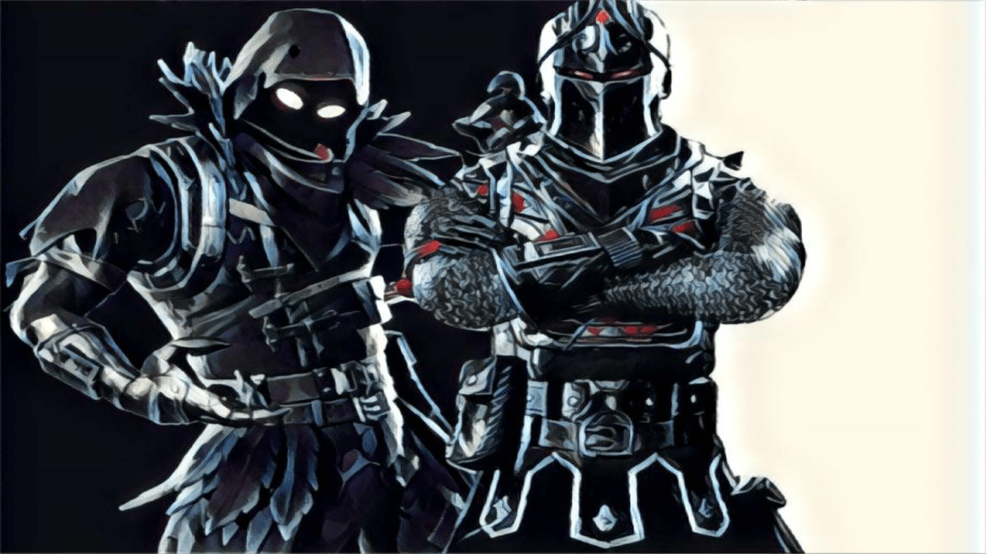 1920x1080 Raven and Black Knight Wallpaper : FortNiteBR