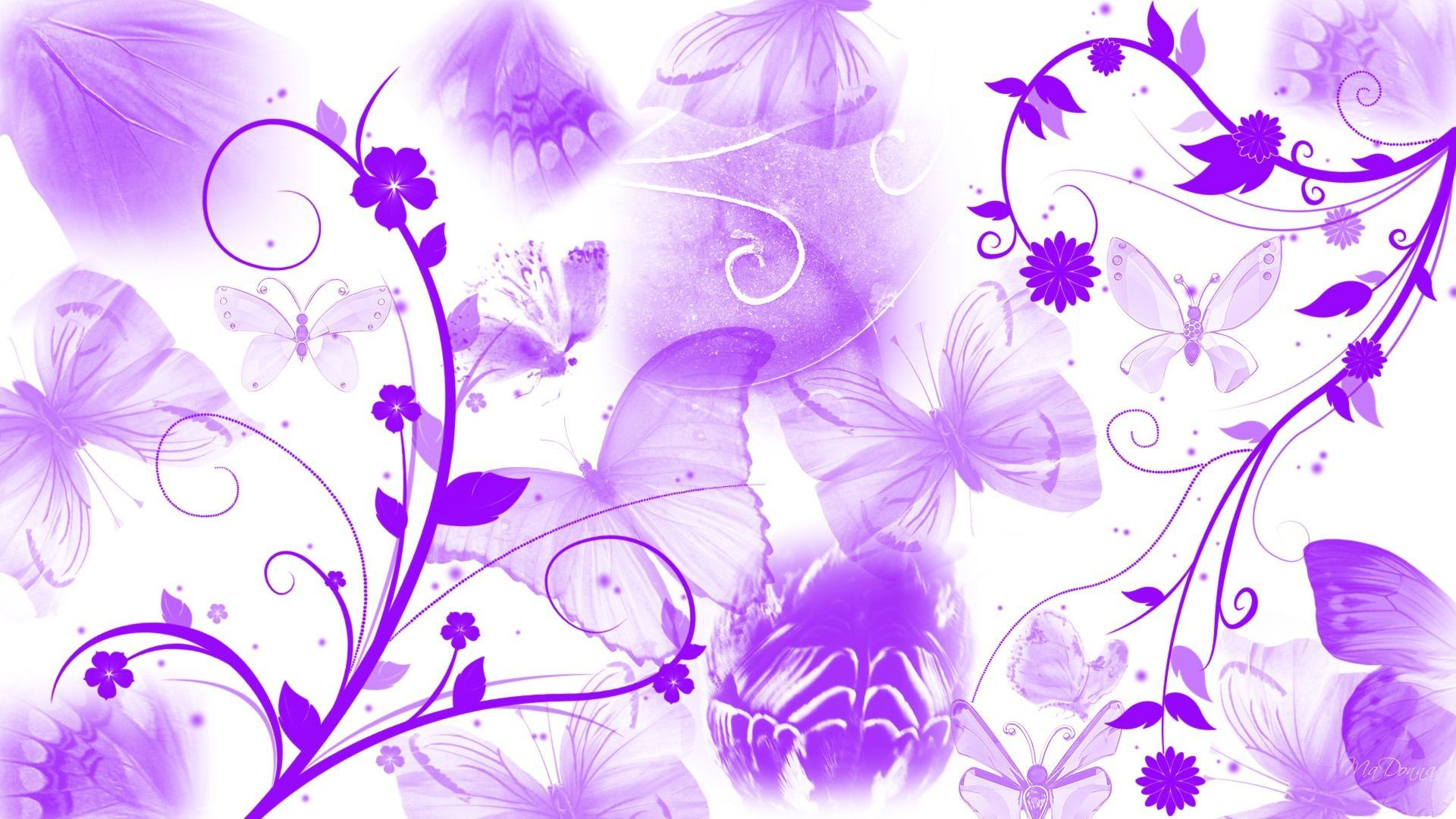 1920x1080 Purple Butterfly Abstract - Abstract Wallpapers Wallike. | PURPLE is ...