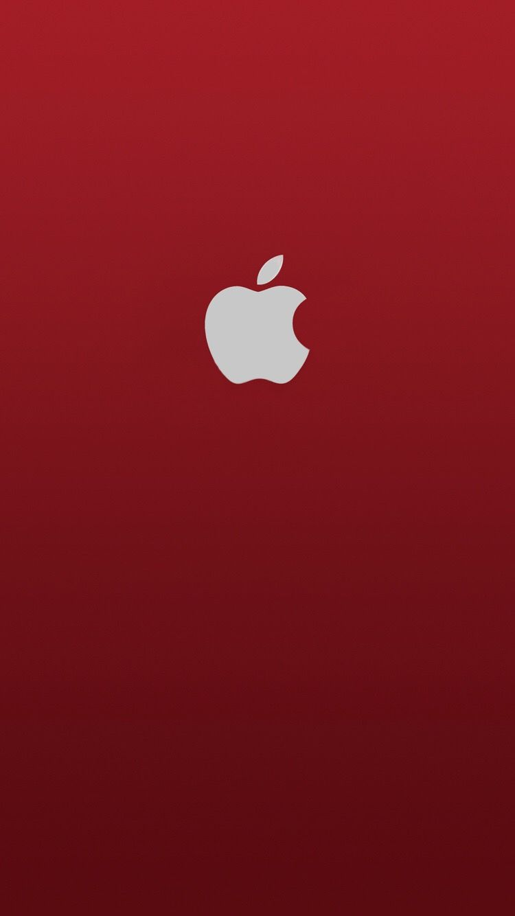 750x1334 iPhone Wallpaper Apple Red Logo | iPhone Wallpaper | Iphone ...