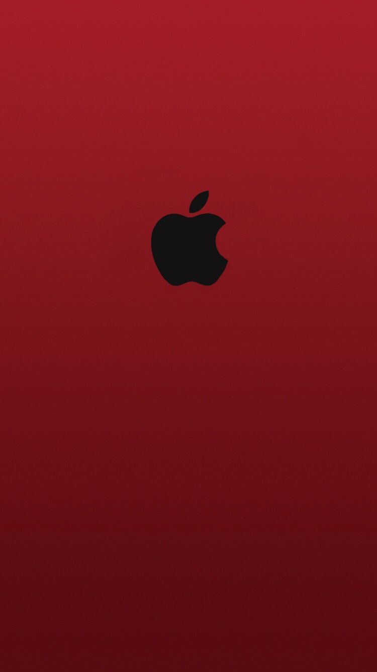 750x1334 iPhone Wallpaper Apple Logo Red Black | iPhone Wallpaper in 2019 ...