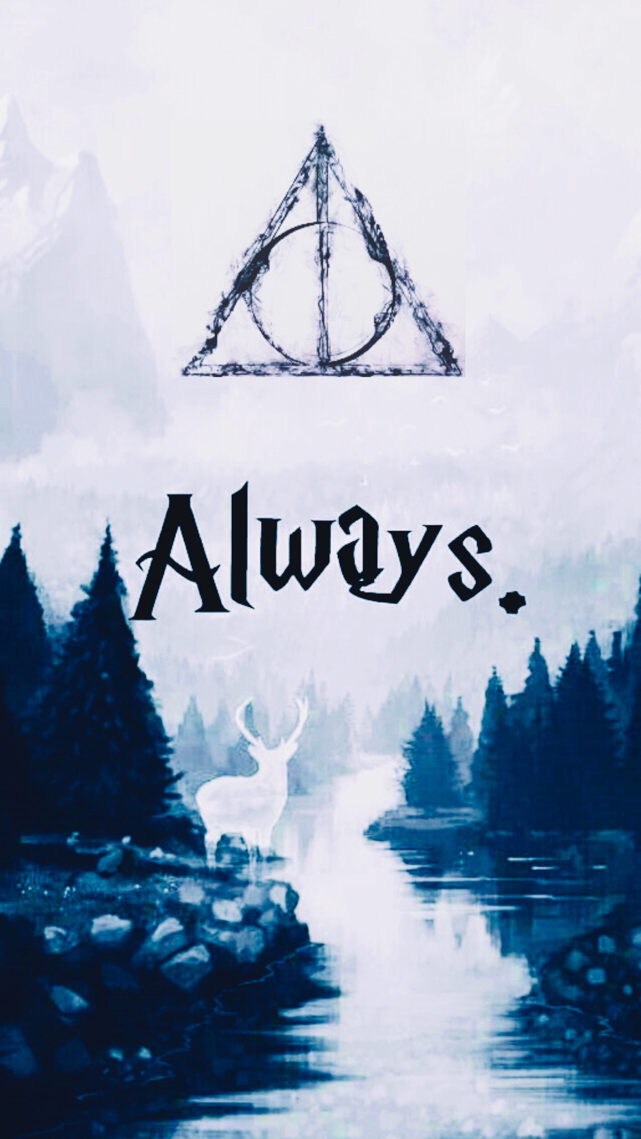 2048x3638 Dealthy Hallows Always | watercolor in 2019 | Harry potter wallpaper ...