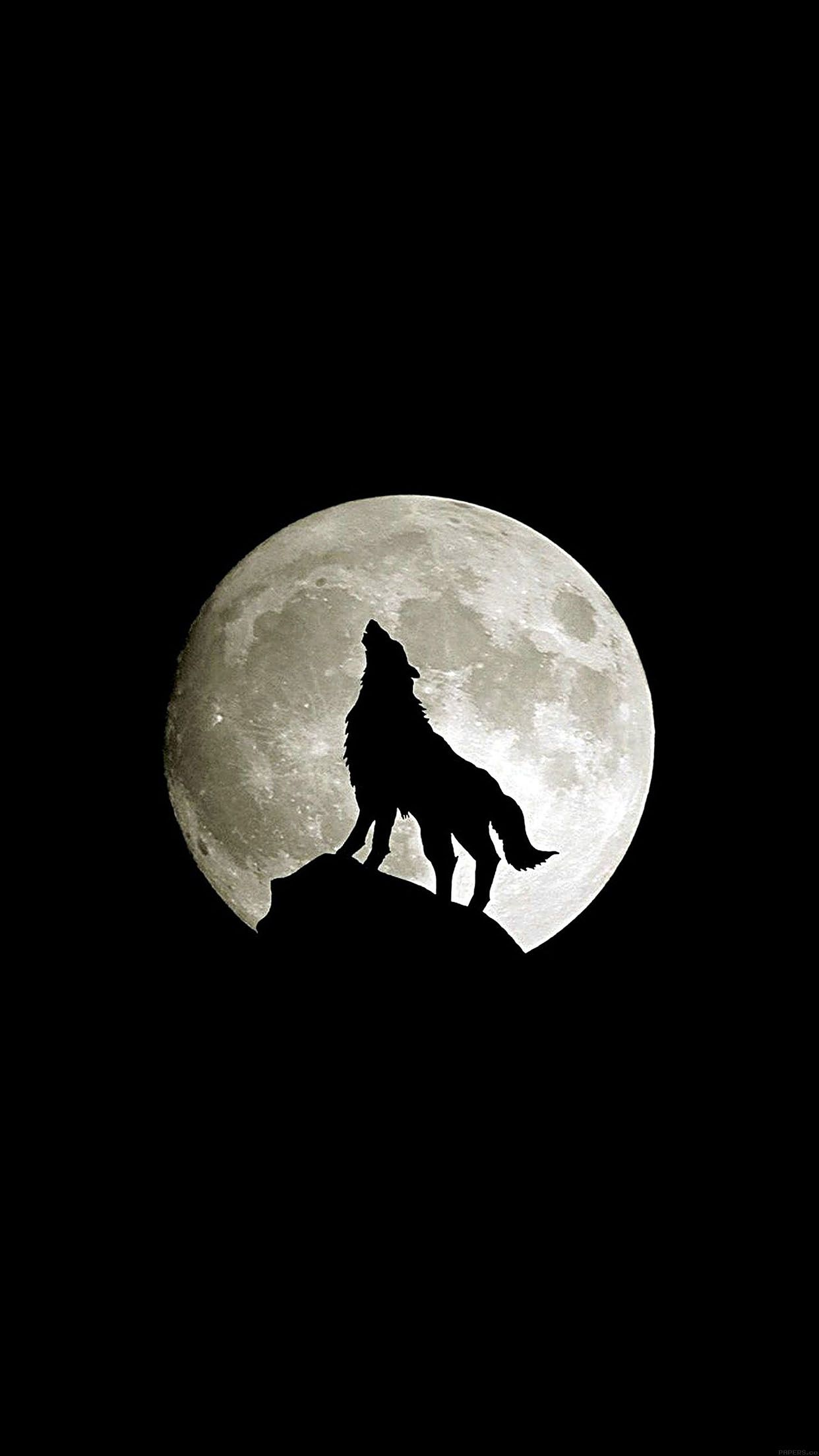 1242x2208 Wolf Howl Animal Dark Minimal Nature Android wallpaper - Android HD ...