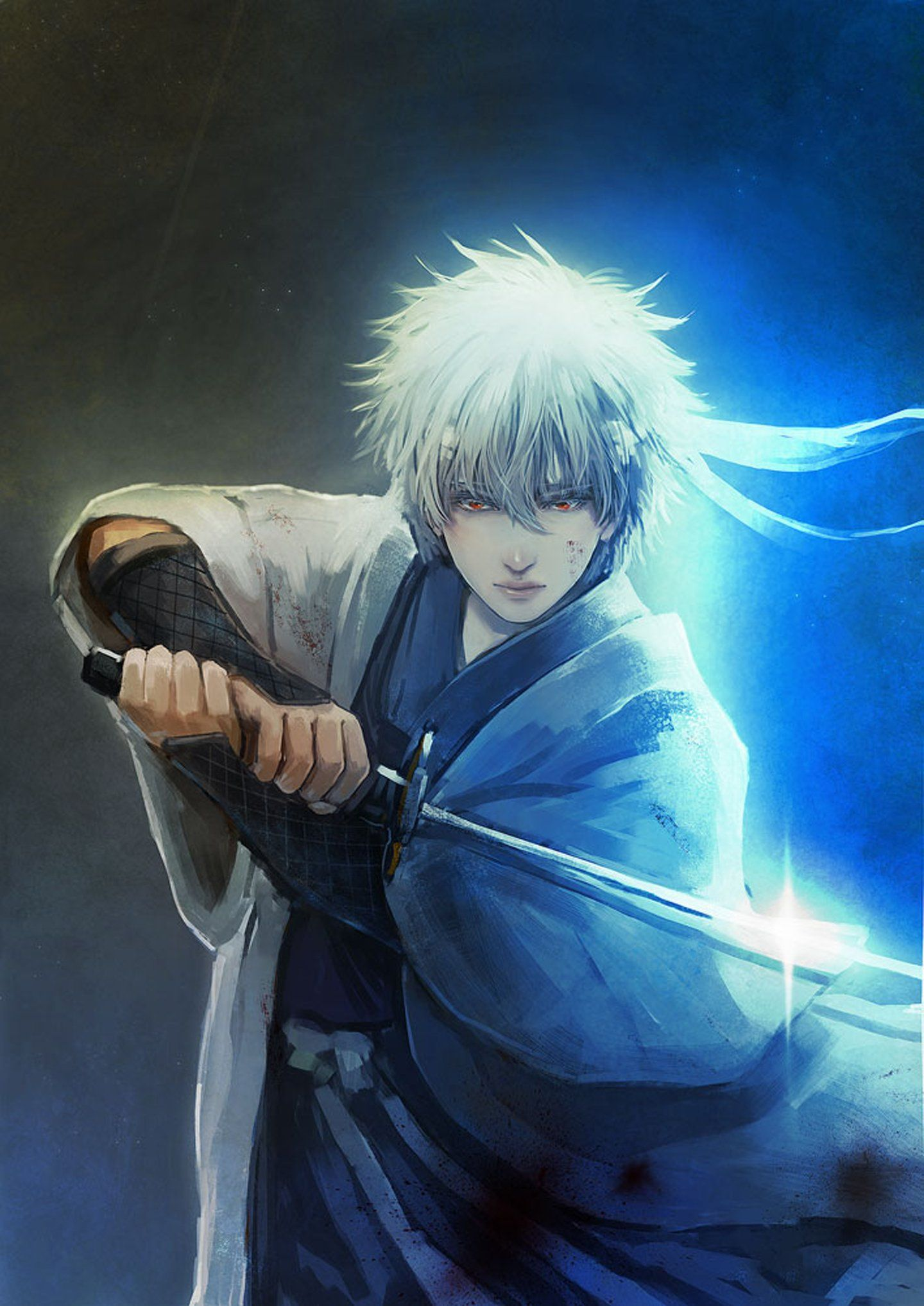 1440x2035 Anime series gintama character sword male guy light wallpaper ...