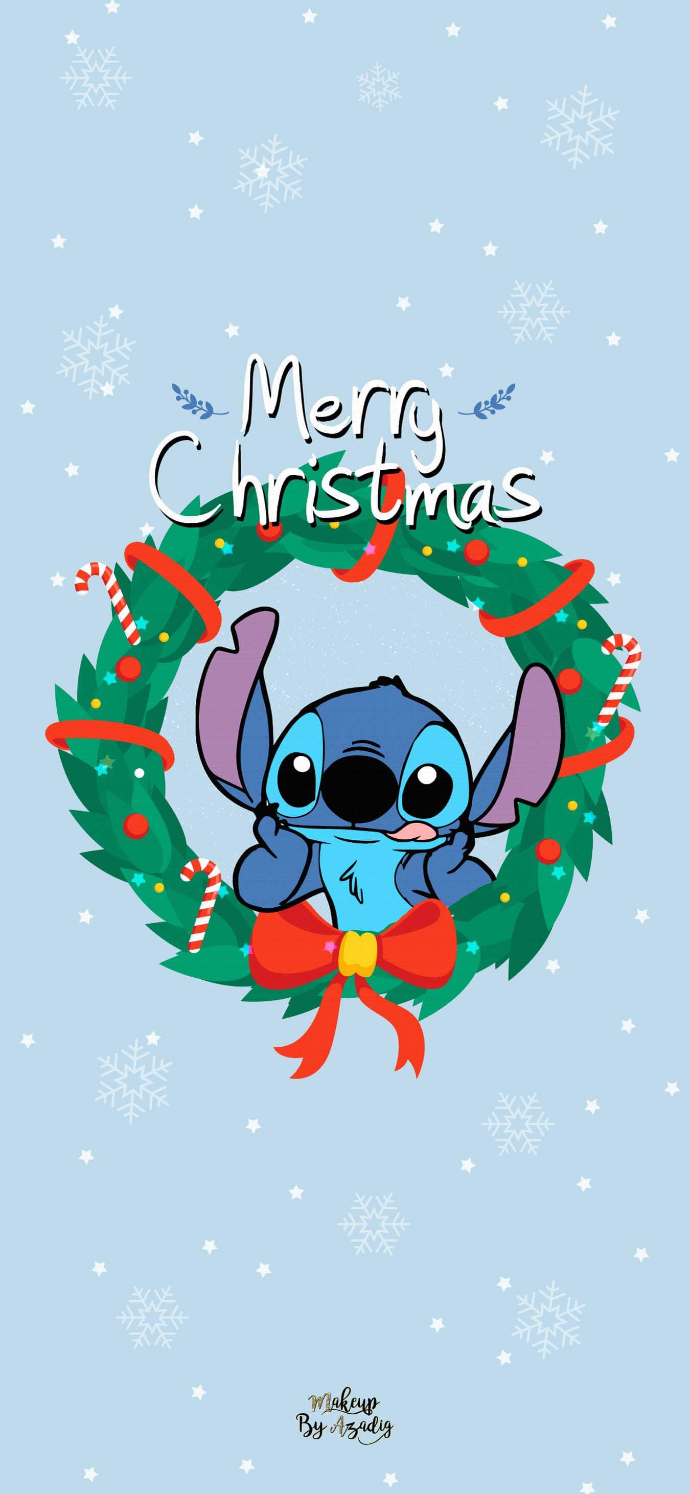 1350x2923 9 : Fond d'écran Disney Stitch Christmas | Wallpaper | MakeupByAzadig