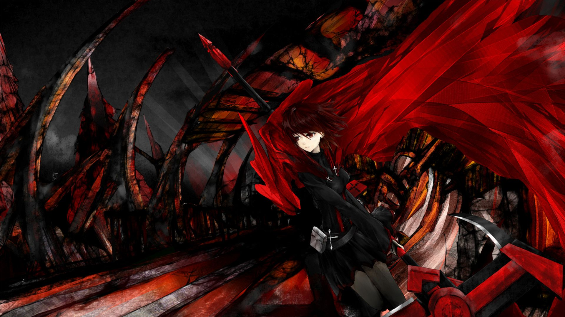 1920x1080 Red and Black Anime Wallpaper (72+ images)