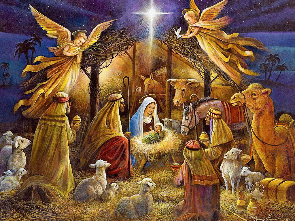 1024x768 Free Christmas Nativity Wallpaper - Wallpapers Browse